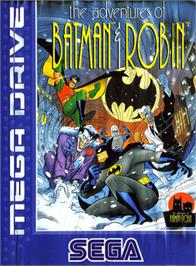 Box cover for Adventures of Batman and Robin, The on the Sega Genesis.