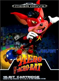 Box cover for Aero the Acro-Bat on the Sega Genesis.