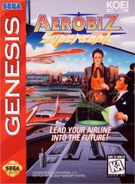 Box cover for Aerobiz Supersonic on the Sega Genesis.