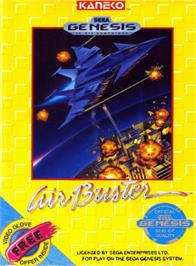 Box cover for Air Buster on the Sega Genesis.