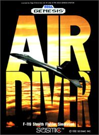 Box cover for Air Diver on the Sega Genesis.