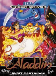 Box cover for Aladdin on the Sega Genesis.
