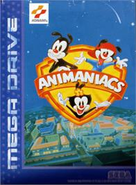 Box cover for Animaniacs on the Sega Genesis.