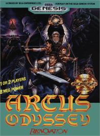 Box cover for Arcus Odyssey on the Sega Genesis.