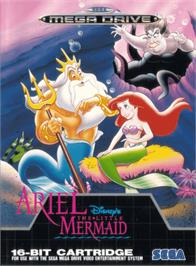Box cover for Ariel the Little Mermaid on the Sega Genesis.