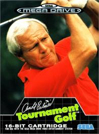 Box cover for Arnold Palmer Tournament Golf on the Sega Genesis.