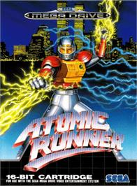 Box cover for Atomic Runner on the Sega Genesis.