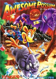 Box cover for Awesome Possum Kicks Dr. Machino's Butt on the Sega Genesis.