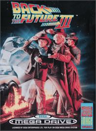 Box cover for Back to the Future III on the Sega Genesis.