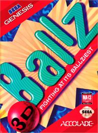 Box cover for Ballz 3D on the Sega Genesis.