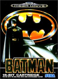 Box cover for Batman: The Video Game on the Sega Genesis.