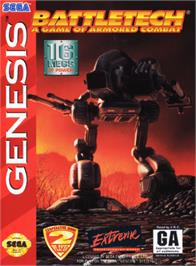 Box cover for Battletech: A Game of Armored Combat on the Sega Genesis.