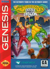 Box cover for Battletoads & Double Dragon: The Ultimate Team on the Sega Genesis.