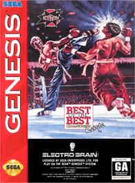 Box cover for Best of the Best Championship Karate on the Sega Genesis.