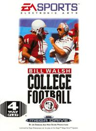 Box cover for Bill Walsh College Football on the Sega Genesis.