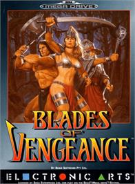 Box cover for Blades of Vengeance on the Sega Genesis.