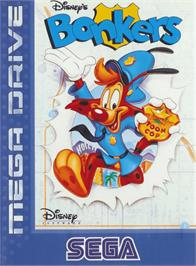Box cover for Bonkers on the Sega Genesis.