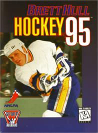 Box cover for Brett Hull Hockey '95 on the Sega Genesis.
