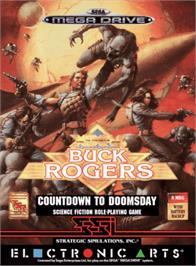Box cover for Buck Rogers: Countdown to Doomsday on the Sega Genesis.