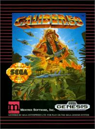 Box cover for Caliber 50 on the Sega Genesis.