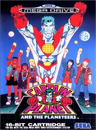 Box cover for Captain Planet and the Planeteers on the Sega Genesis.