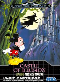 Box cover for Castle of Illusion starring Mickey Mouse on the Sega Genesis.