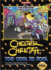 Box cover for Chester Cheetah: Too Cool to Fool on the Sega Genesis.