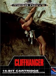 Box cover for Cliffhanger on the Sega Genesis.