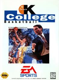 Box cover for Coach K College Basketball on the Sega Genesis.