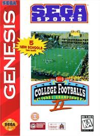 Box cover for College Football's National Championship II on the Sega Genesis.