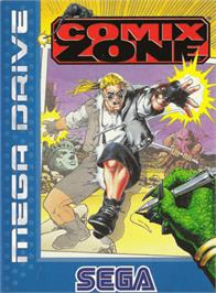 Box cover for Comix Zone on the Sega Genesis.