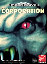 Box cover for Corporation on the Sega Genesis.