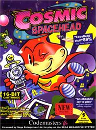 Box cover for Cosmic Spacehead on the Sega Genesis.