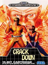 Box cover for Crack Down on the Sega Genesis.