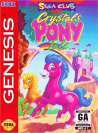 Box cover for Crystal's Pony Tale on the Sega Genesis.
