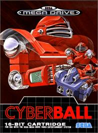 Box cover for Cyberball on the Sega Genesis.