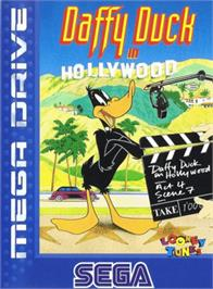 Box cover for Daffy Duck in Hollywood on the Sega Genesis.