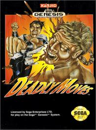 Box cover for Deadly Moves on the Sega Genesis.