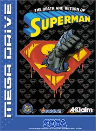 Box cover for Death and Return of Superman, The on the Sega Genesis.