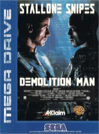 Box cover for Demolition Man on the Sega Genesis.