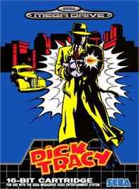 Box cover for Dick Tracy on the Sega Genesis.