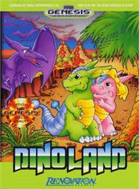 Box cover for Dino Land on the Sega Genesis.