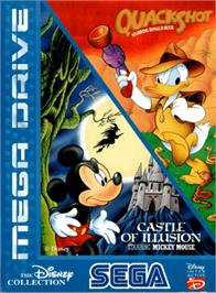 Box cover for Disney Collection: Castle of Illusion & Quack Shot on the Sega Genesis.