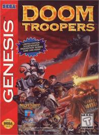 Box cover for Doom Troopers: Mutant Chronicles on the Sega Genesis.