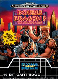 Box cover for Double Dragon 3 - The Rosetta Stone on the Sega Genesis.