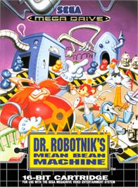 Box cover for Dr. Robotnik's Mean Bean Machine on the Sega Genesis.
