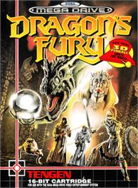 Box cover for Dragon's Fury on the Sega Genesis.