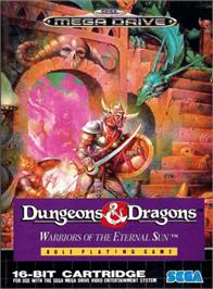 Box cover for Dungeons & Dragons: Warriors of the Eternal Sun on the Sega Genesis.