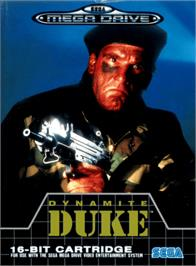 Box cover for Dynamite Duke on the Sega Genesis.