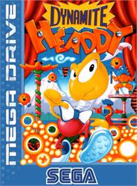 Box cover for Dynamite Headdy on the Sega Genesis.